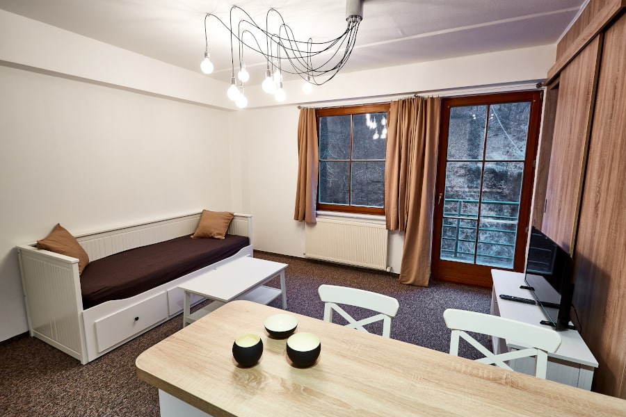 Obývací pokoj apartmánu PORT JÁCHYMOV