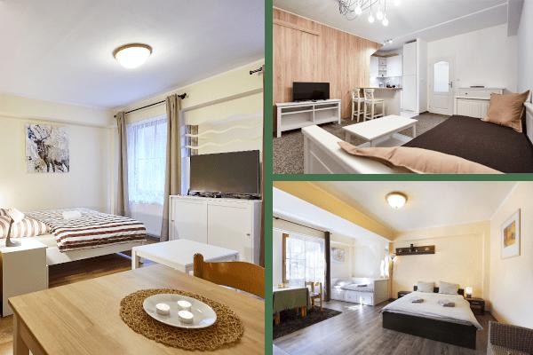 Interiéry apartmánů PORT JÁCHYMOV