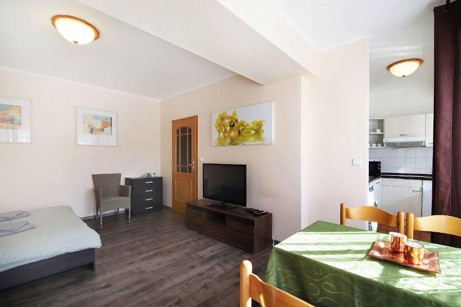Obývací část s ložnicí apartmánu Lanovka 29